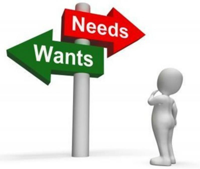 needs wants