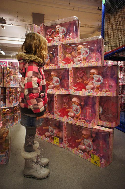 Child Buying Toys