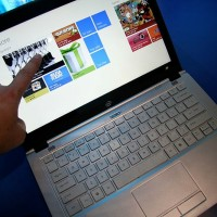 Online Shopping with Touchscreen Ultrabook